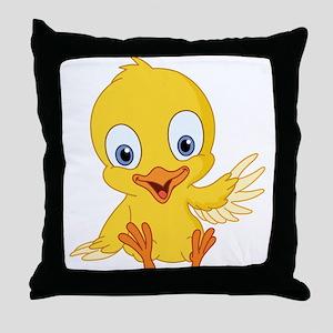 Cartoon Duck-2 Throw Pillow