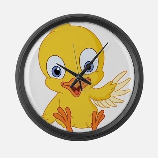 Cartoon Duck-2 Large Wall Clock