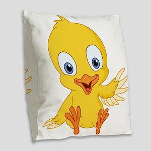 Cartoon Duck-2 Burlap Throw Pillow