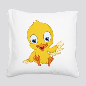 Cartoon Duck-2 Square Canvas Pillow