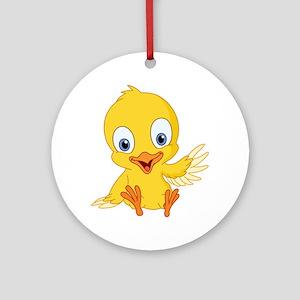 Cartoon Duck-2 Ornament (Round)