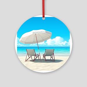 Beach Vacation Ornament (Round)
