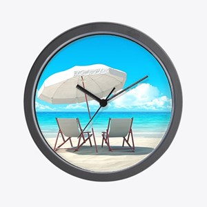 Beach Vacation Wall Clock