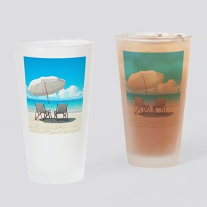 Beach Vacation Drinking Glass