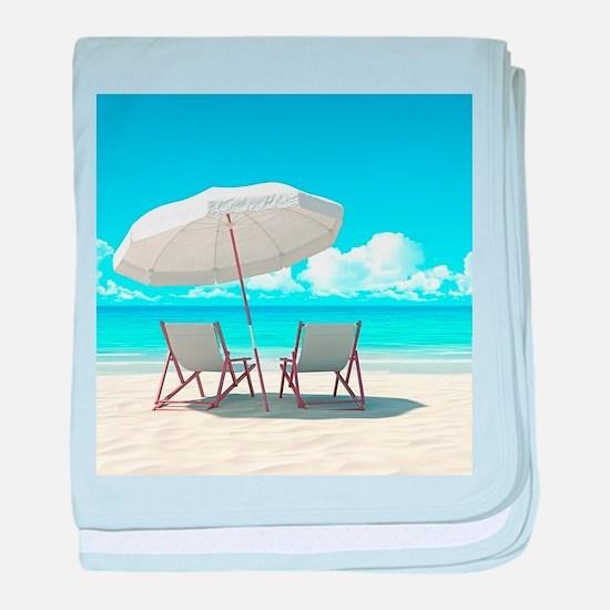 Beach Vacation baby blanket