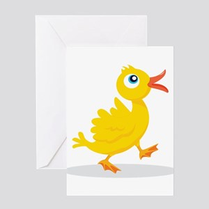 Cartoon Rubbe Duckie-2 Greeting Cards