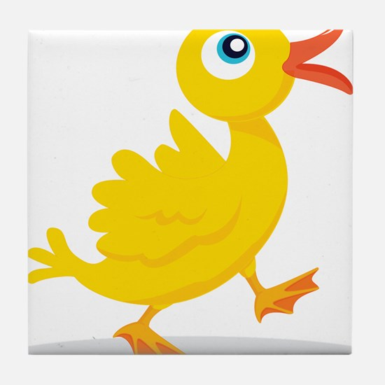 Cartoon Rubbe Duckie-2 Tile Coaster