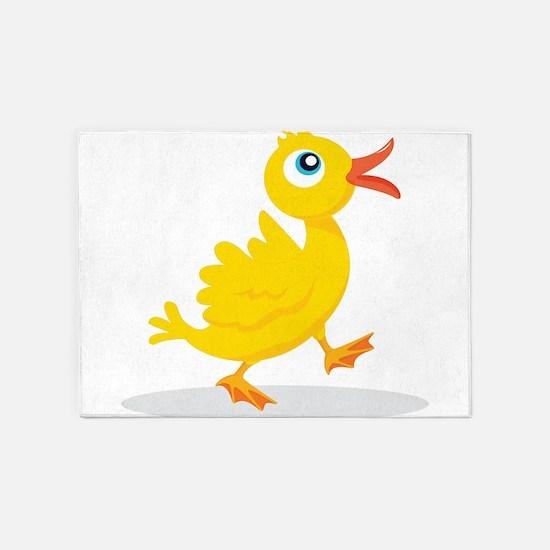 Cartoon Rubbe Duckie-2 5'x7'Area Rug
