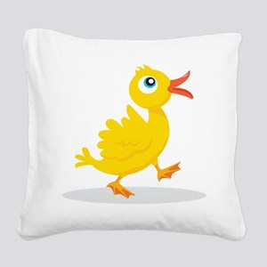 Cartoon Rubbe Duckie-2 Square Canvas Pillow