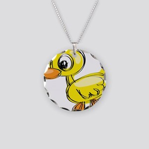 Sketched Duck Necklace