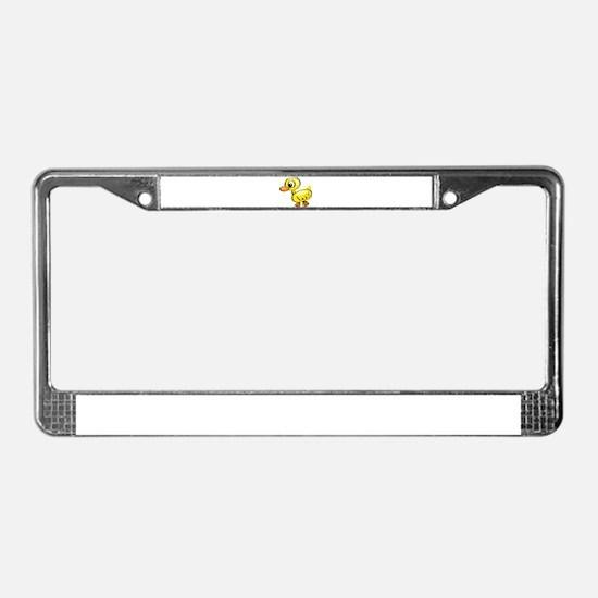 Sketched Duck License Plate Frame