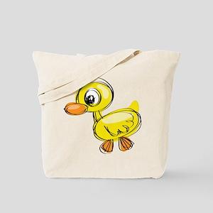 Sketched Duck Tote Bag