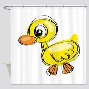 Sketched Duck Shower Curtain