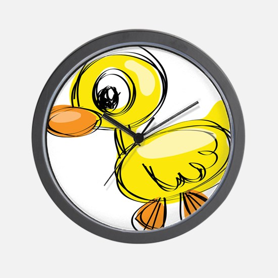 Sketched Duck Wall Clock