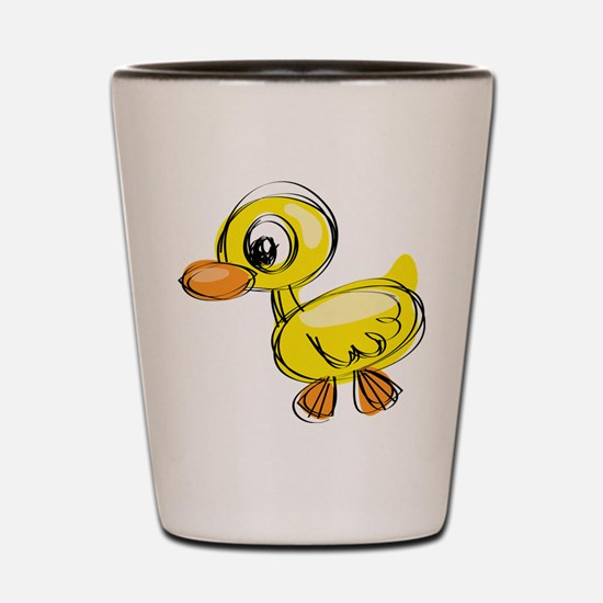 Sketched Duck Shot Glass