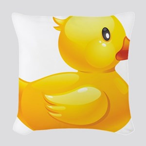 Rubber Duckie Woven Throw Pillow