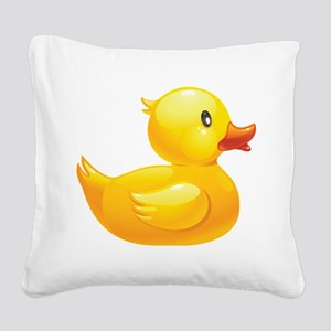 Rubber Duckie Square Canvas Pillow