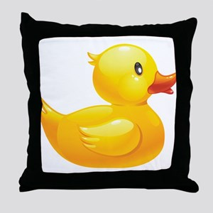 Rubber Duckie Throw Pillow
