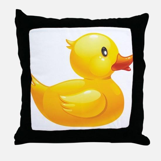 Rubber Duckie Throw Pillow