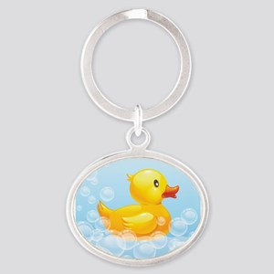Duck in Bubbles Keychains