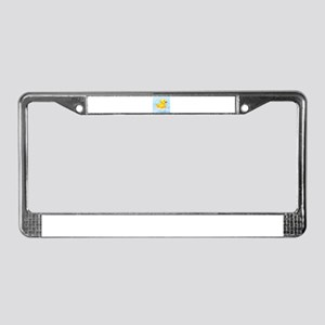 Duck in Bubbles License Plate Frame