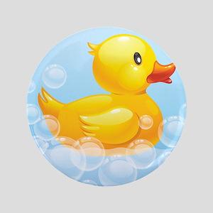"Duck in Bubbles 3.5"" Button"