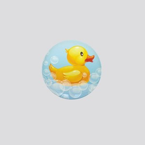 Duck in Bubbles Mini Button