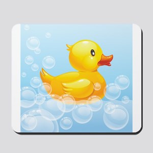 Duck in Bubbles Mousepad