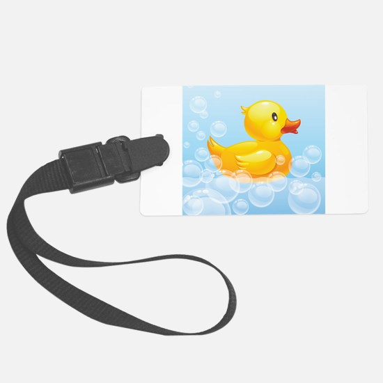 Duck in Bubbles Luggage Tag