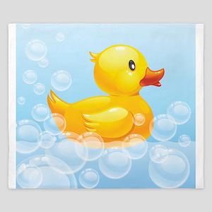 Duck in Bubbles King Duvet