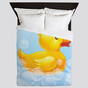 Duck in Bubbles Queen Duvet