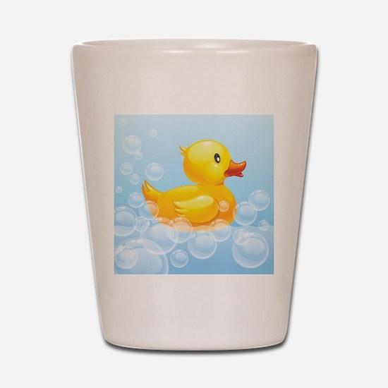 Duck in Bubbles Shot Glass