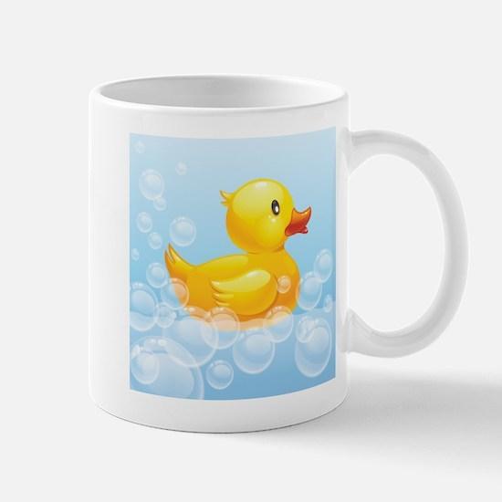 Duck in Bubbles Mugs