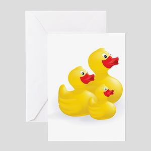Trio of Ducks Greeting Cards