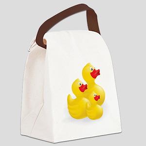 Trio of Ducks Canvas Lunch Bag