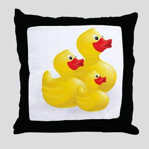 Trio of Ducks Throw Pillow