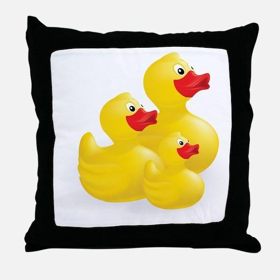 Trio of Ducks Throw Pillow