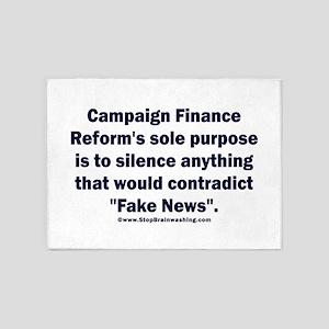 Fake Campaign Finance Reform 5'x7'Area Rug