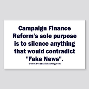 Fake Campaign Finance Reform Sticker (Rectangle)