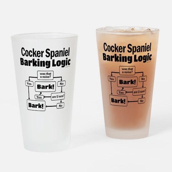 Cocker Spaniel Logic Drinking Glass