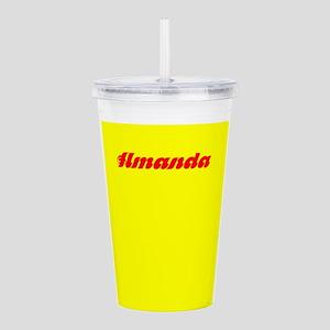 Amanda Yellow Red Chic Acrylic Double-Wall Tumbler