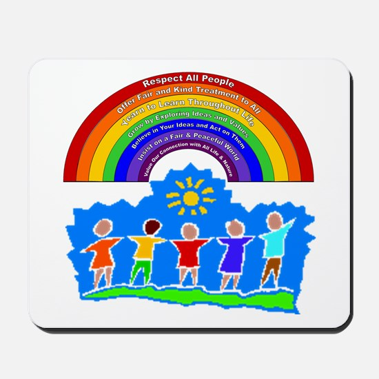 Rainbow Principles Kids Mousepad