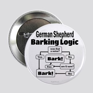 "German Shepherd Logic 2.25"" Button"