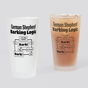 German Shepherd Logic Drinking Glass