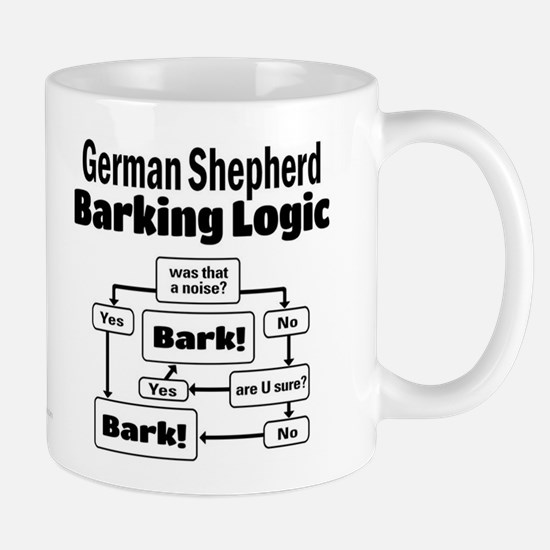 German Shepherd Logic Mug