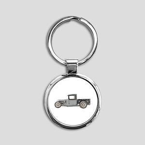 1932 Ford Round Keychain