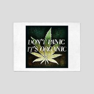 Dont Panic, Its organic 5'x7'Area Rug