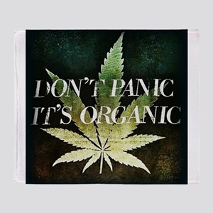 Dont Panic, Its organic Throw Blanket