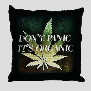 Dont Panic, Its organic Throw Pillow