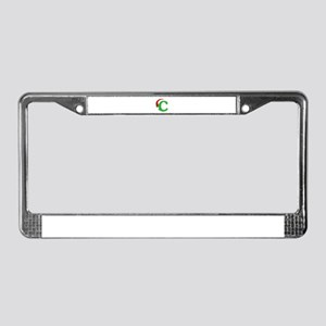 Christmas Monogram Letter C License Plate Frame